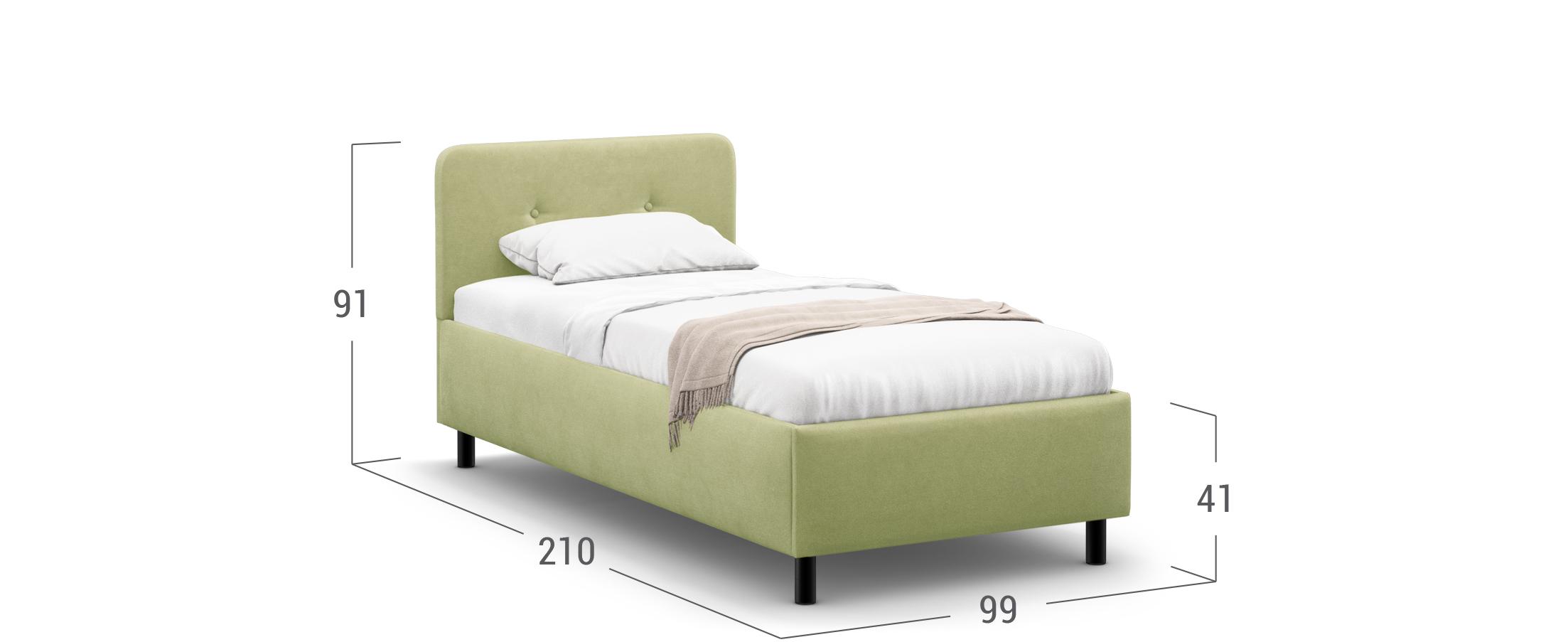 Кровать односпальная MOON FAMILY 1232 90х200